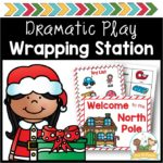 Dramatic Play Holiday Wrapping Station