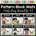 Holiday Pattern Block Mats