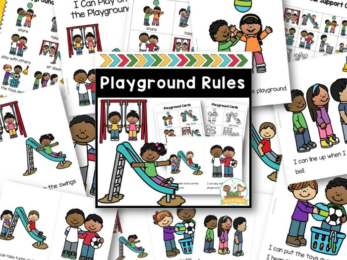 Playground Rules for Preschool