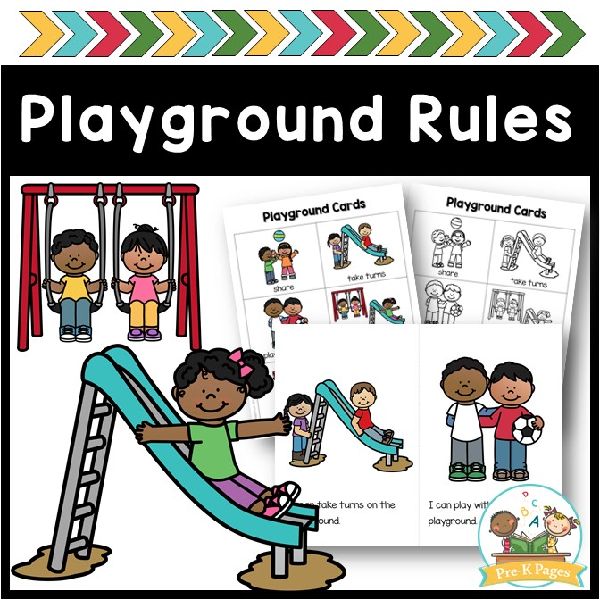 photo regarding Free Printable Classroom Rules Poster known as Playground and Recess Legal guidelines - Pre-K Web pages