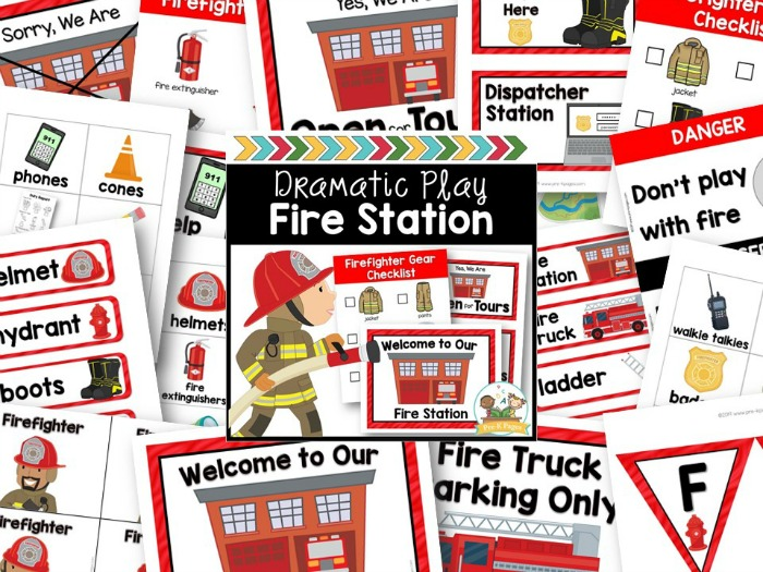Fire Station Dramatic Play Center