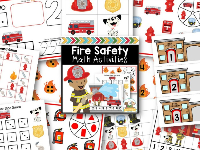Fire Theme Small Group Math Activities
