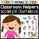 Classroom Jobs Chart for Preschool