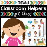 Classroom Jobs Chart for Preschool