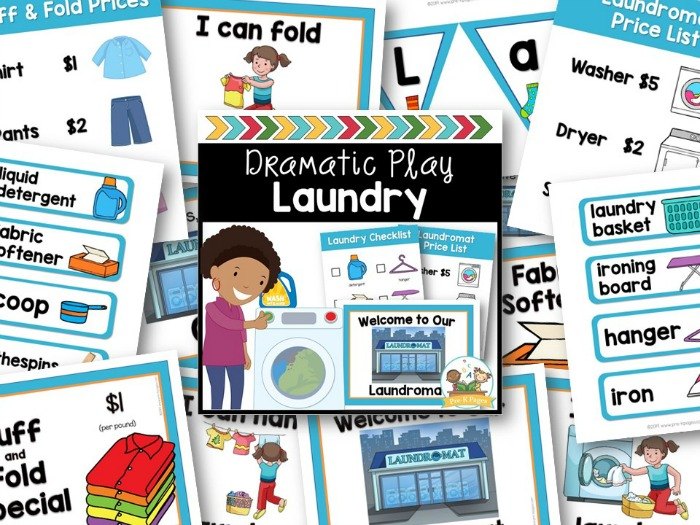 Laundry Dramatic Play Props