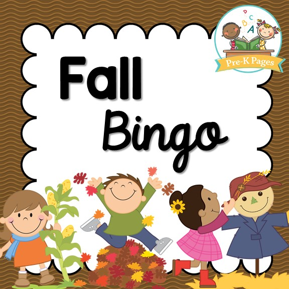 graphic regarding Fall Bingo Printable named Tumble Bingo - Pre-K Web pages