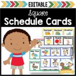 Editable Picture Cards with Times