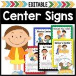 Editable Center Signs for Preschool and Kindergarten