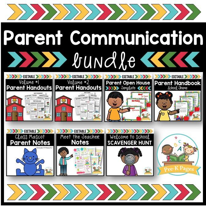 Parent Communication Bundle for Preschool and Pre-K