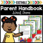 Editable Parent Handbook for Preschool and Pre-K