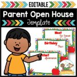 Parent Open House PPT Template for Preschool and Pre-K