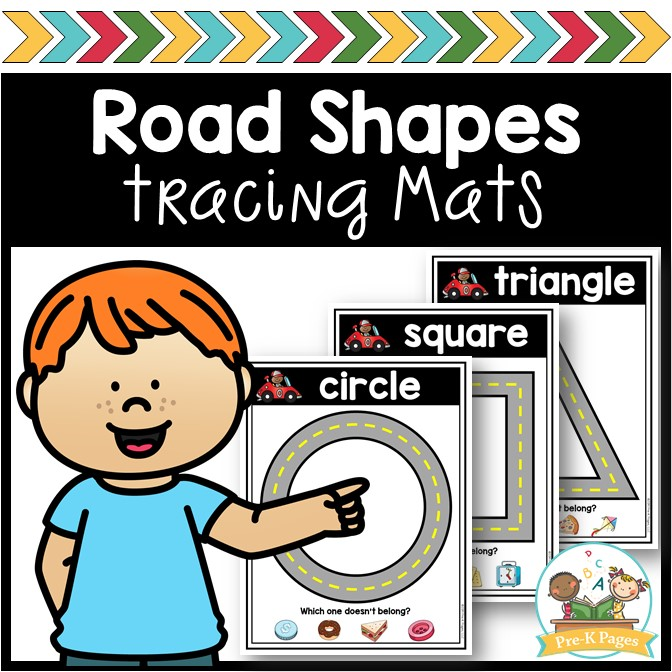 Road Theme Shape Mats