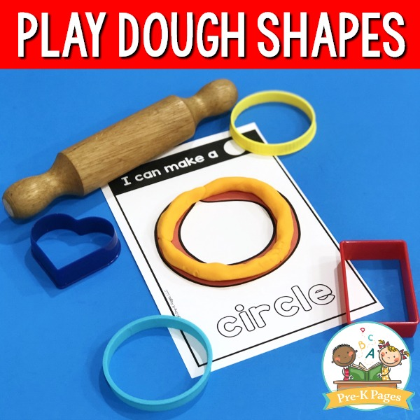 Play Dough Shape Mats Circle