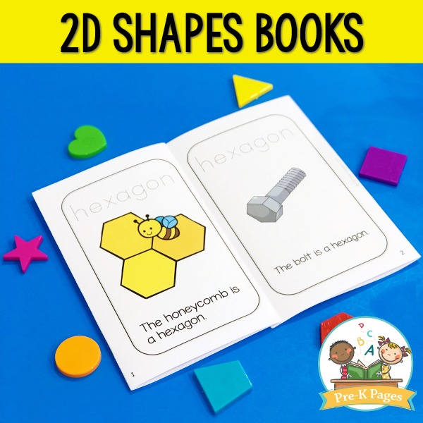 Printable 2D Shapes Books