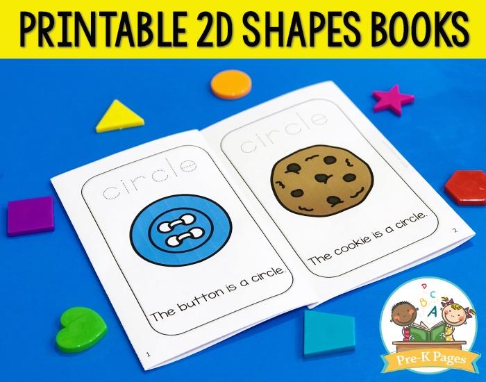 Printable Shape Books for Preschool