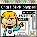 Craft Stick Shapes Printable Mats