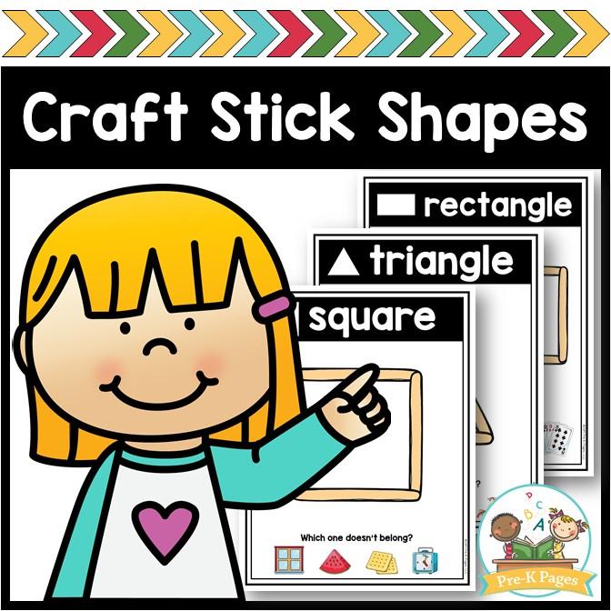 Craft Stick Shapes Printable Mats