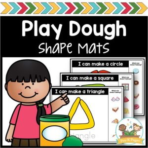 2D Play Dough Shape Mats