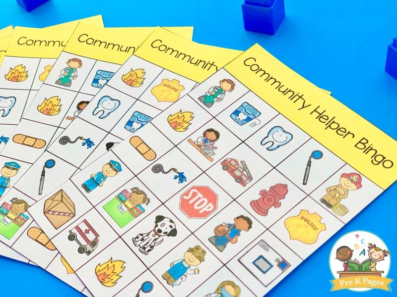 Community Helper Bingo Game for Kids