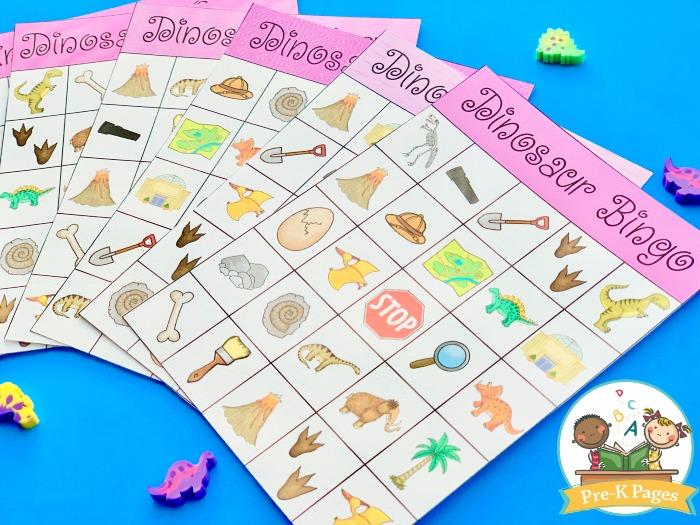 Dinosaur Bingo Game for Kids