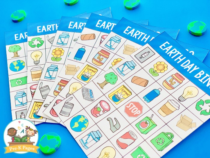 Earth Day Bingo Game for Kids
