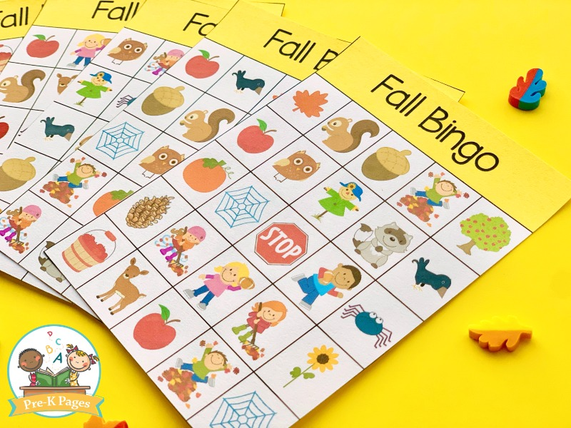 Fall Bingo Game for Kids