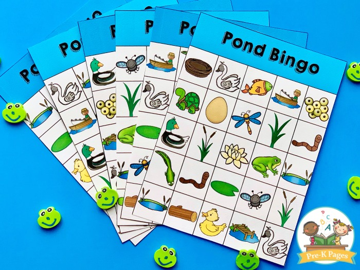 Pond Theme Bingo Game