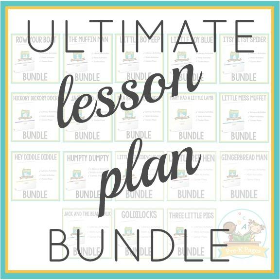 Pre-K Lesson Plan Bundle