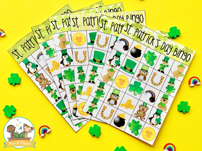St Patricks Day Bingo Game for Kids