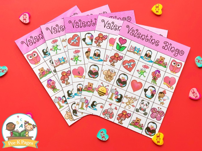 Valentine Bingo Game for Kids