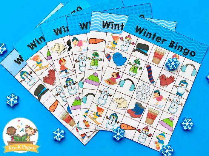 Winter Bingo Game for Kids