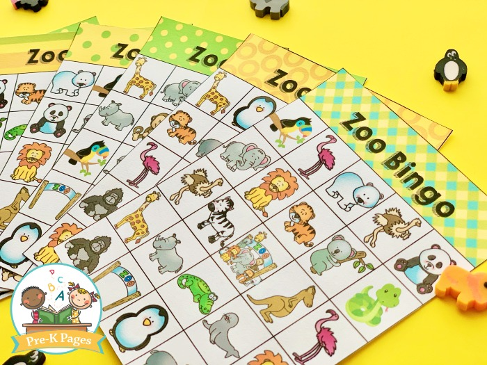 Zoo Theme Bingo Game for Kids
