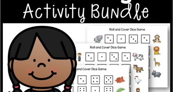 Subitizing Roll and Cover Games