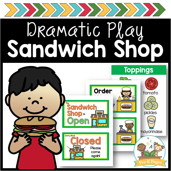 Sandwich Shop Dramatic Play cover