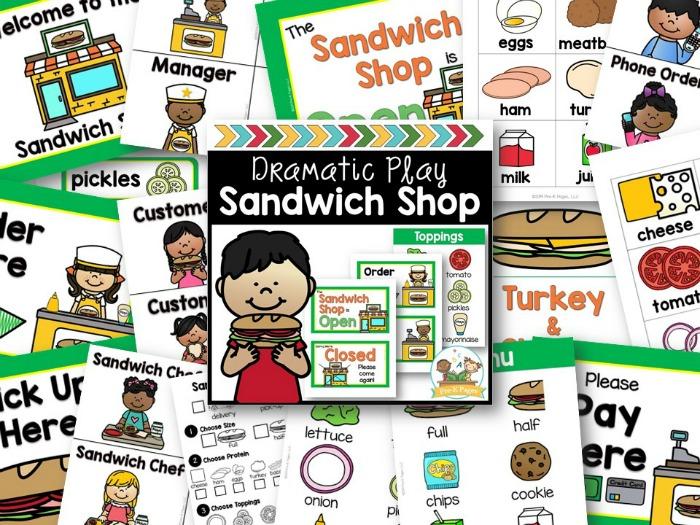 Sandwich Shop Dramatic Play Preview