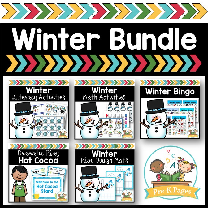 Winter Activity Bundle for Preschool