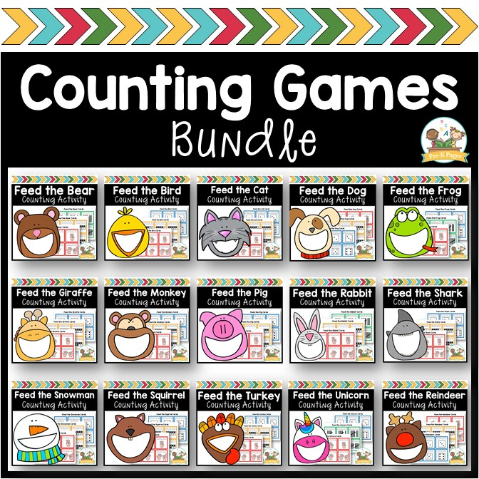 Feed the Animals Counting Games Bundle