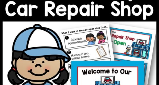 Car Repair Shop Dramatic Play
