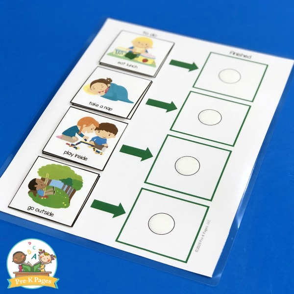 Daily Picture Schedule for Preschool Parents