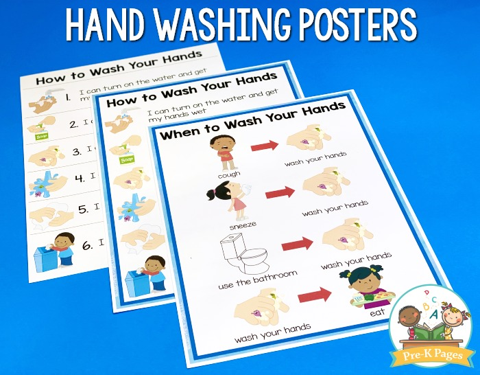 Hand Washing Posters for Preschool