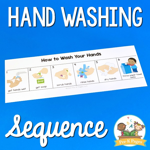 Hand Washing Sequence for Kids