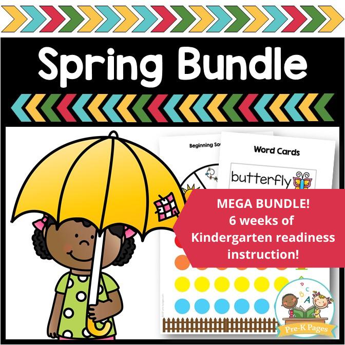 Pre-K Spring Themes Mega Bundle by Pre-K Pages