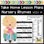 Take Home Lesson Plans Nursery Rhymes Week 1