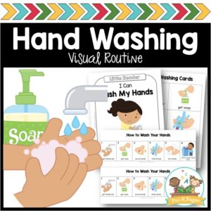 Hand Washing Routine Poster & Book for Preschoolers