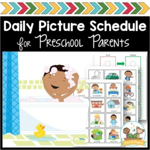 At Home Daily Picture Schedule for Preschool and Pre-K