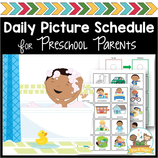At Home Daily Picture Schedule for Preschool and Pre-K Parents