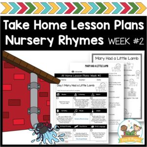 Take Home Lesson Plans – Nursery Rhymes vol 2