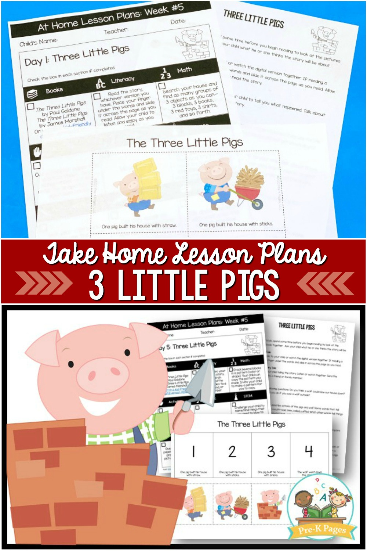 Preschool at Home 3 Little Pigs