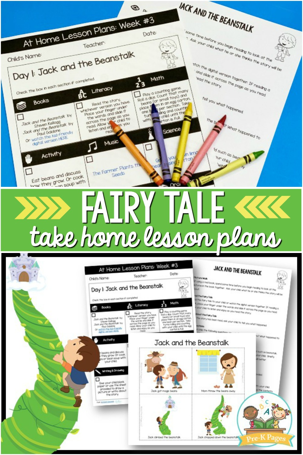 Preschool at Home Lesson Plans Fairy Tale