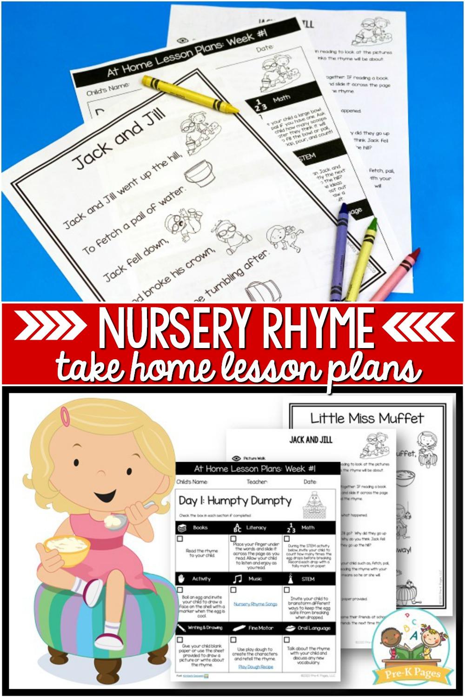 Preschool at Home Lesson Plans Nursery Rhymes